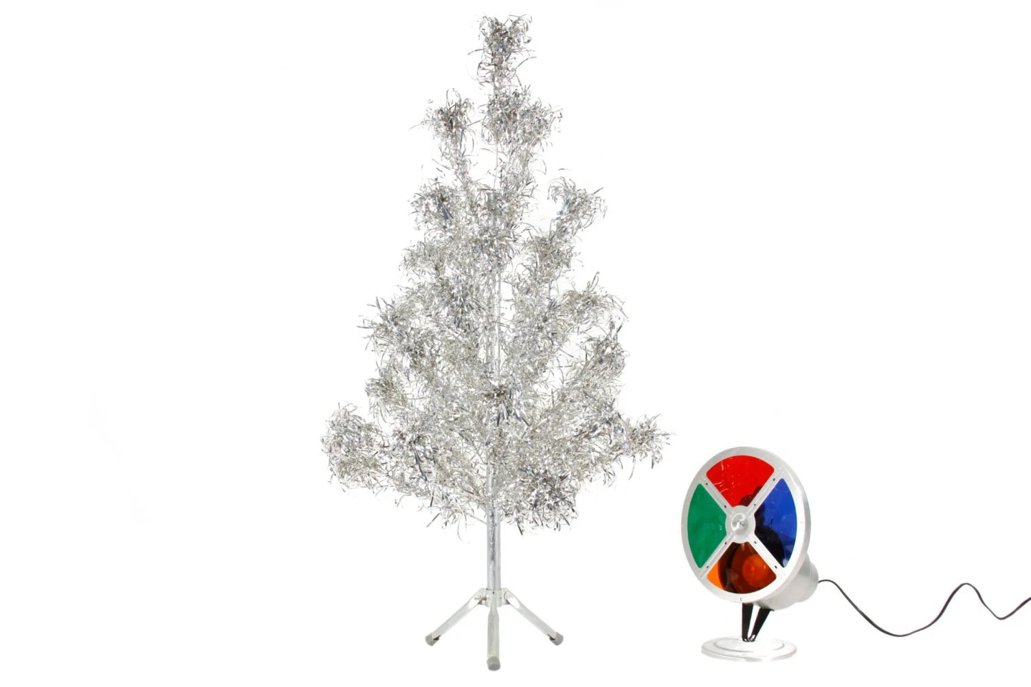 4 Ft Aluminum Tree With Color Wheel Vintage By Phatdog On