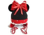 Girl hat, Crochet baby hat, Girl, toddler, Children Hat, Crochet Minnie Mouse - SvitlanaSky
