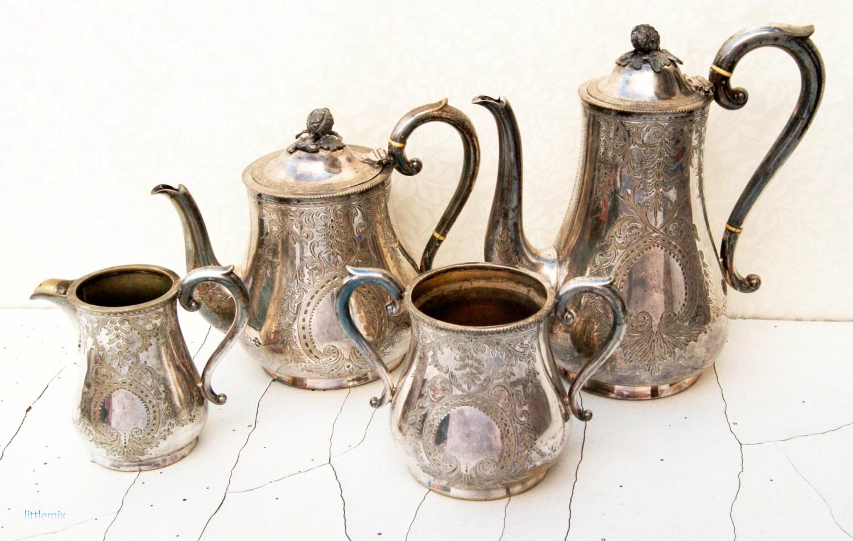 Tea Set Plated Silver Epns