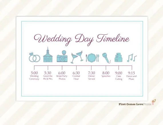 Wedding Itinerary Guests
