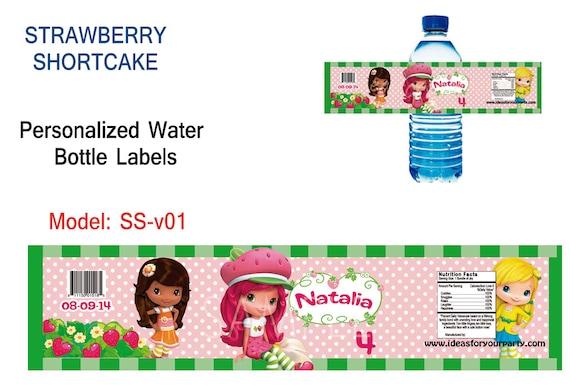Strawberry Shortcake Bottle Labels