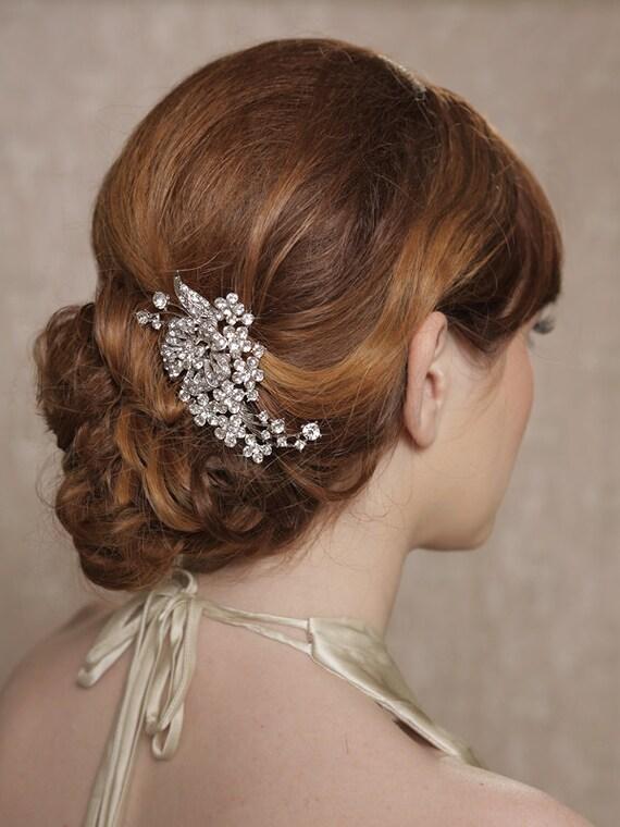 Silver Crystal Hair Piece Bridal Hair Comb Bridal Hair Clip