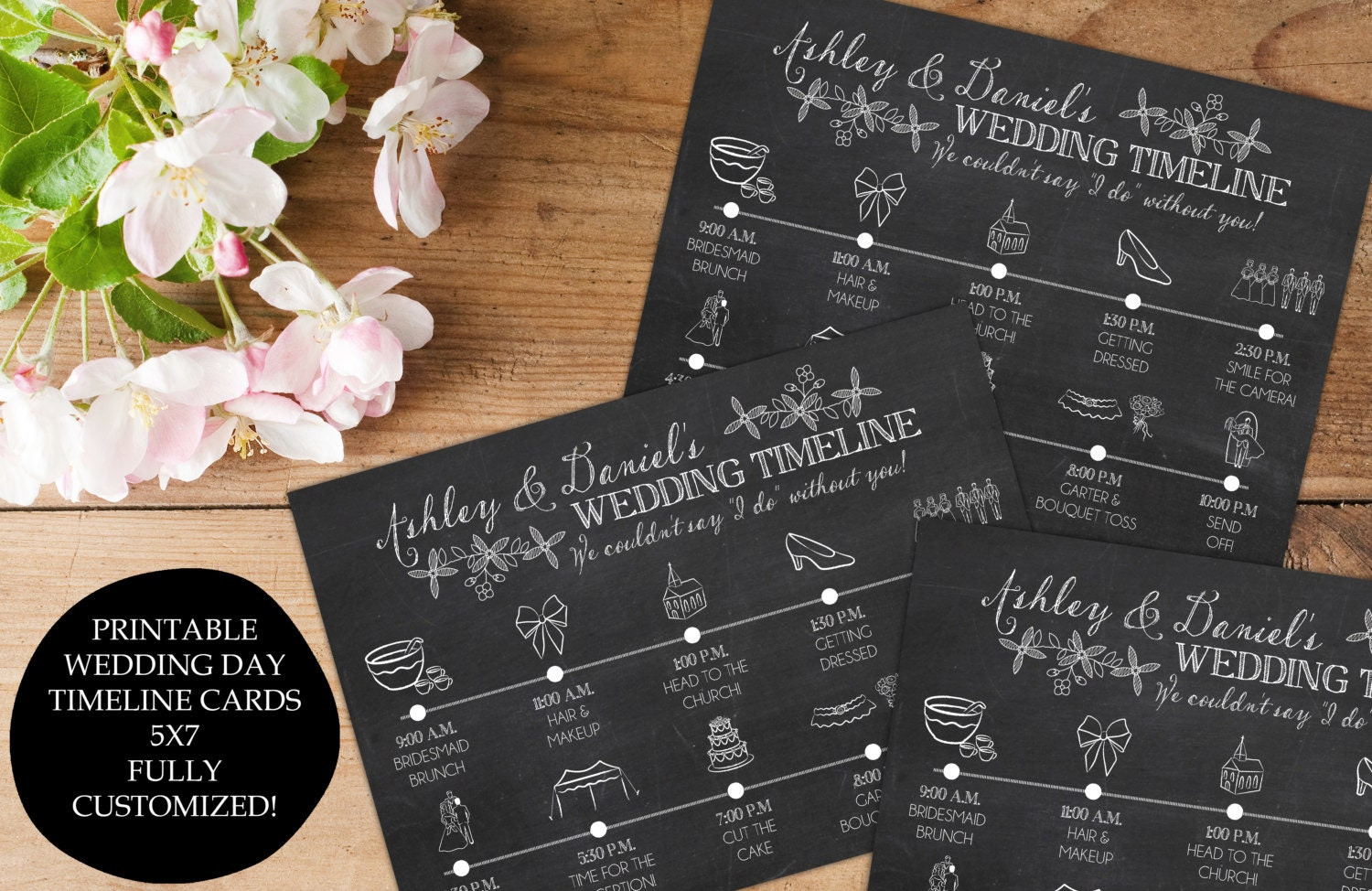 Wedding Day Timeline Itinerary Schedule For The Bridal Party