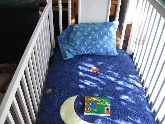Goodnight Moon Crib Set by QuiltedByKaren