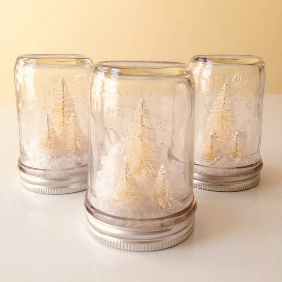 Christmas Half Pint Mason Jars
