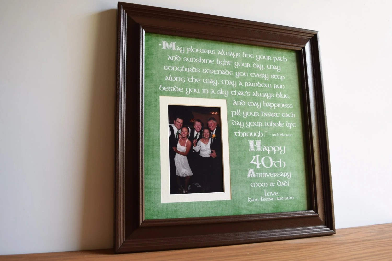 Irish Wedding Gift Irish Wedding Anniversary Irish