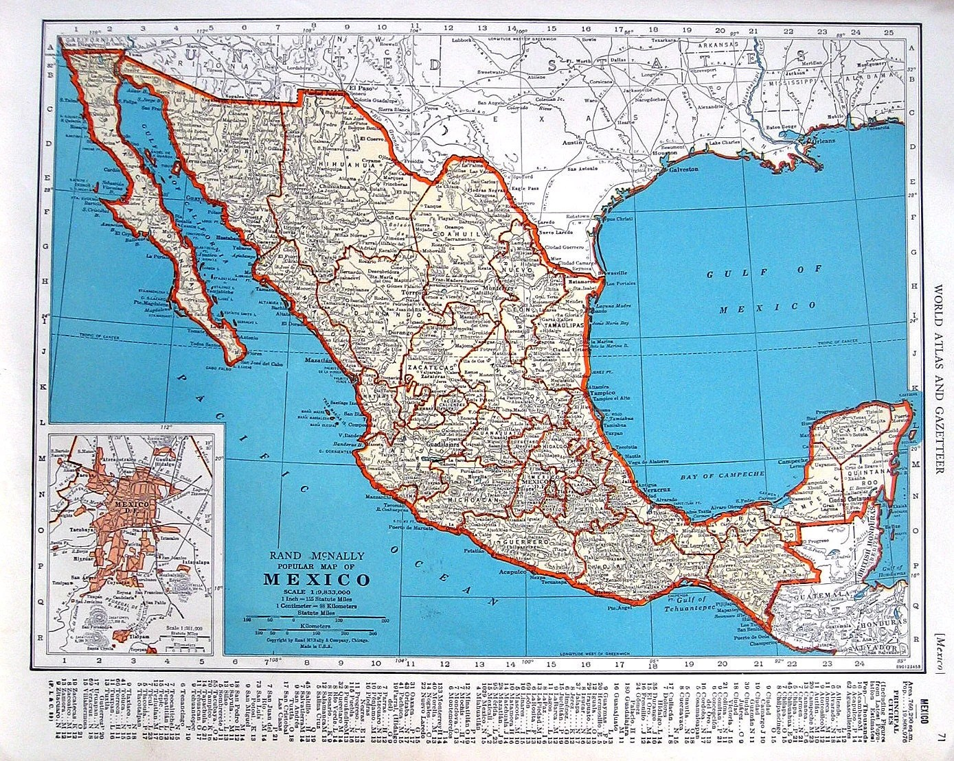 Map Of Mexico And Map Of Central America By Mysunshinevintage