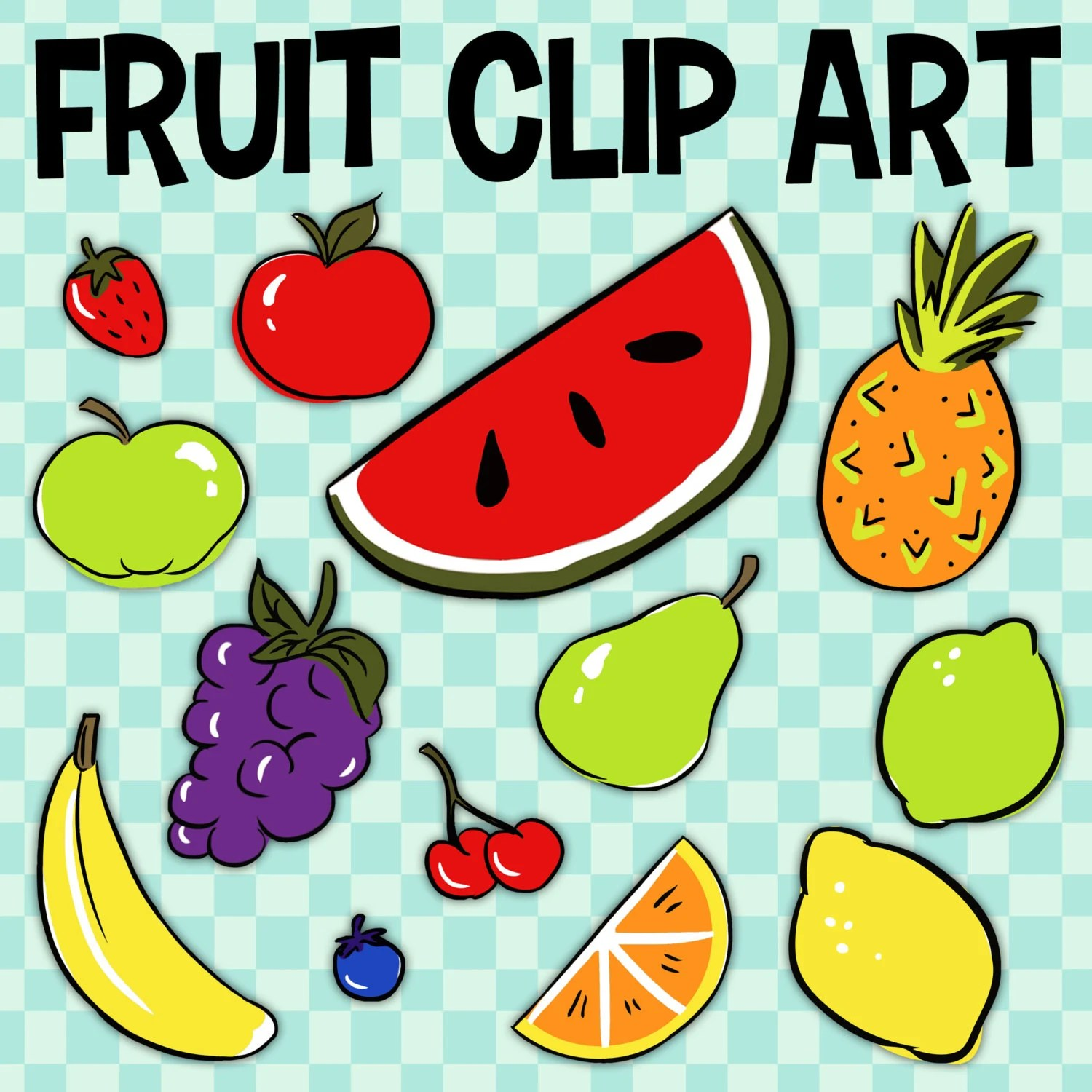 Fruit Clip Art Banana Clip Art Food Group Art Pineapple By