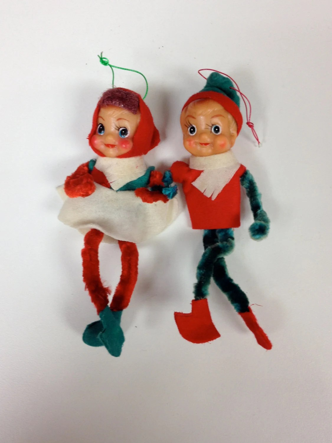 Vintage Bendable Christmas Elves