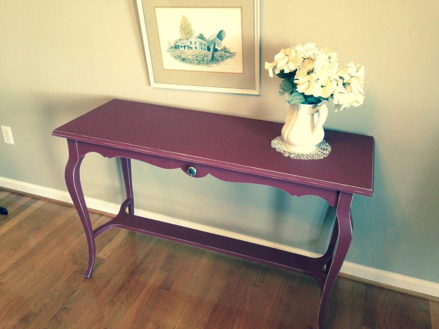 Foyer Table Etsy : Sold example sofa table foyer entryway sideboard