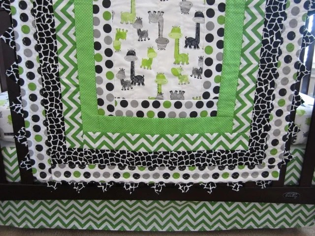 Pattern Fitted Crib Sheet
