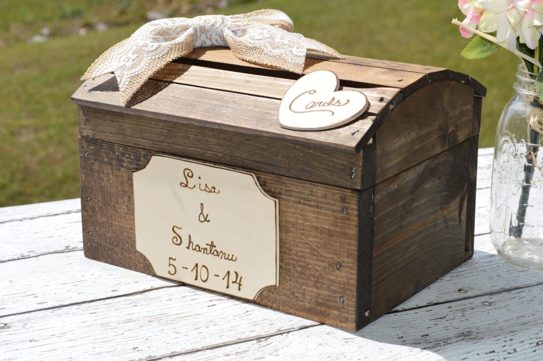 Shabby Chic Card Box Custom Wedding Card Box By