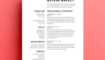 using resume templates in your job search - Minimalist Resume Template