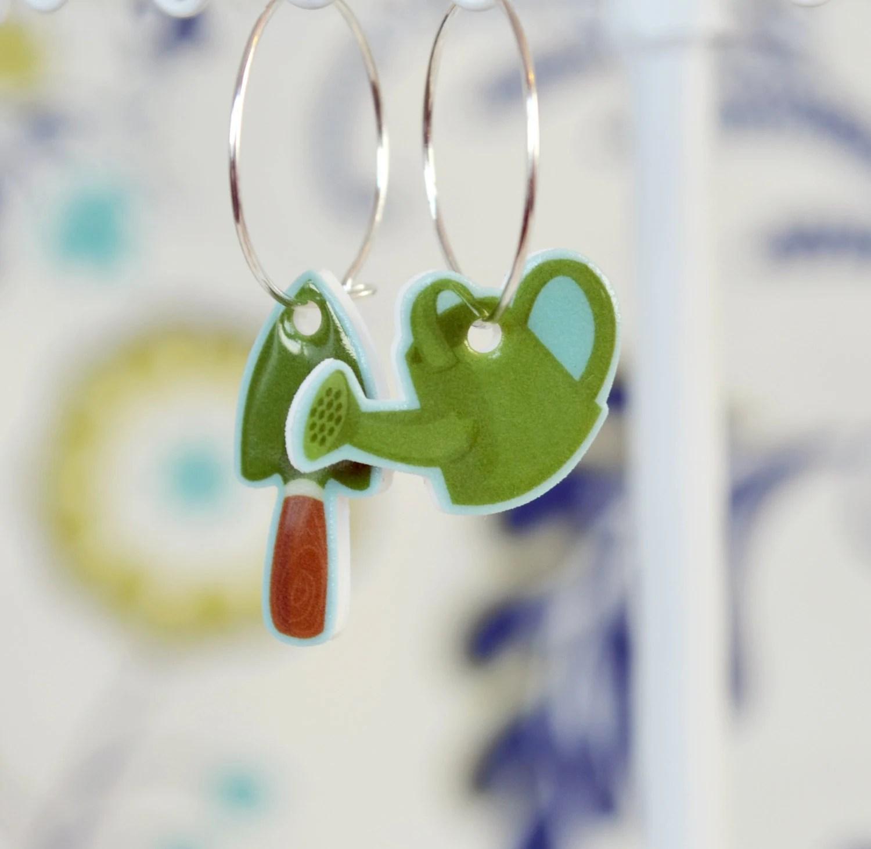 Garden Tool Earrings Cute Gardening Earrings Little Green