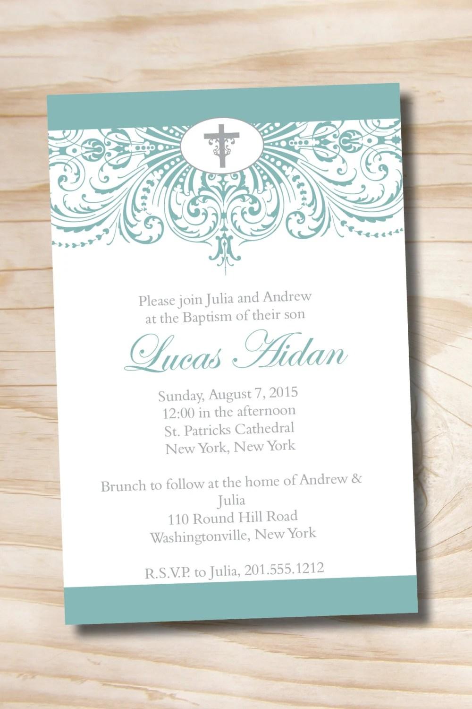 Custom Baptism Invitations