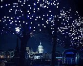 London photography, London poster, midnight blue, romance, photography, night