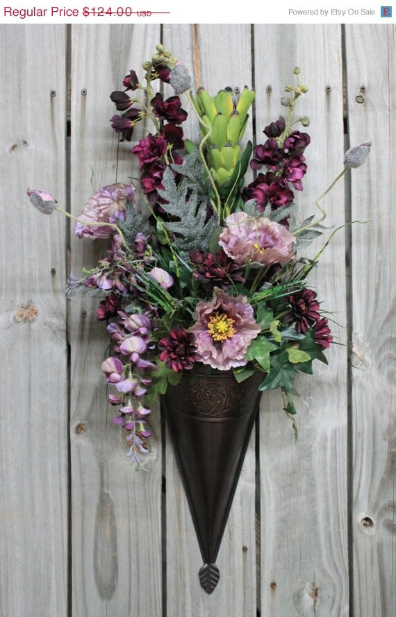 Unavailable Listing on Etsy on Wall Sconce Floral Arrangements Arrangement id=54464