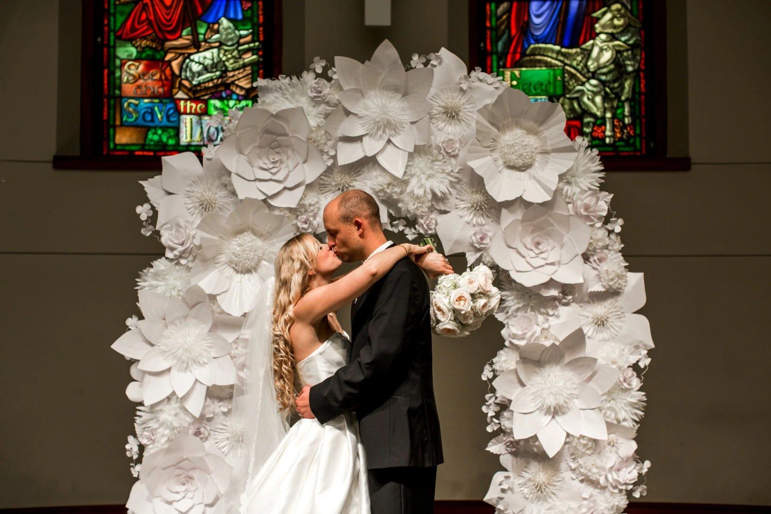 Items Similar To RENTAL Paper Flower Wedding Arch. White
