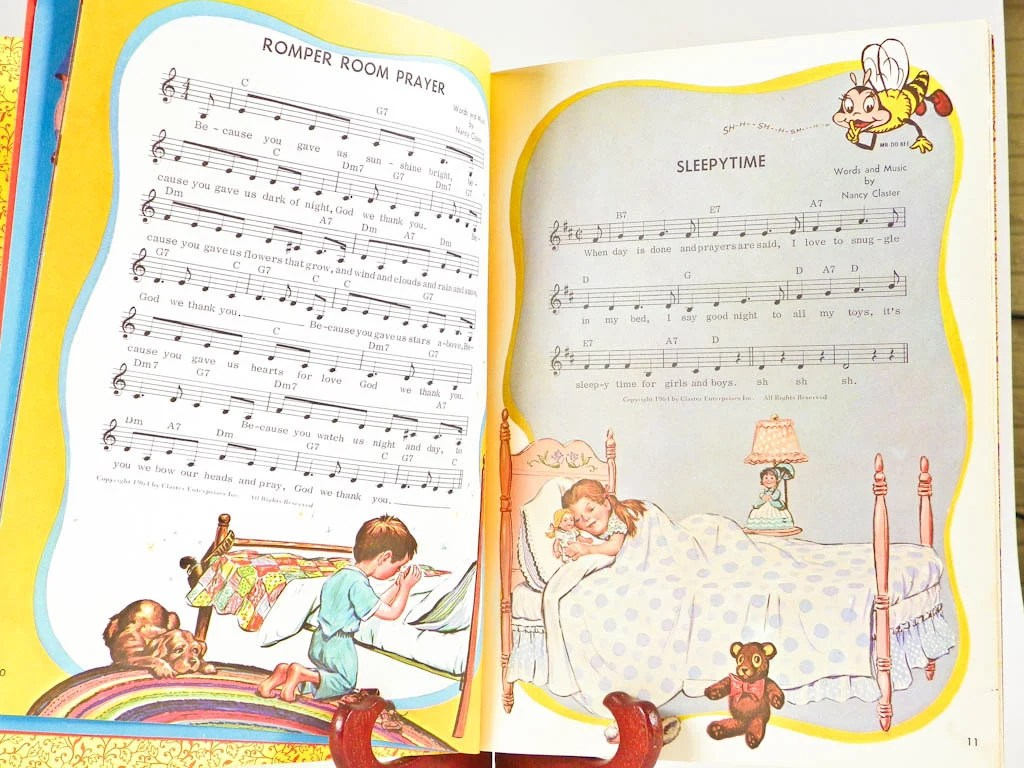 1966 Romper Room Song Book Mr Do Bee From The Famous