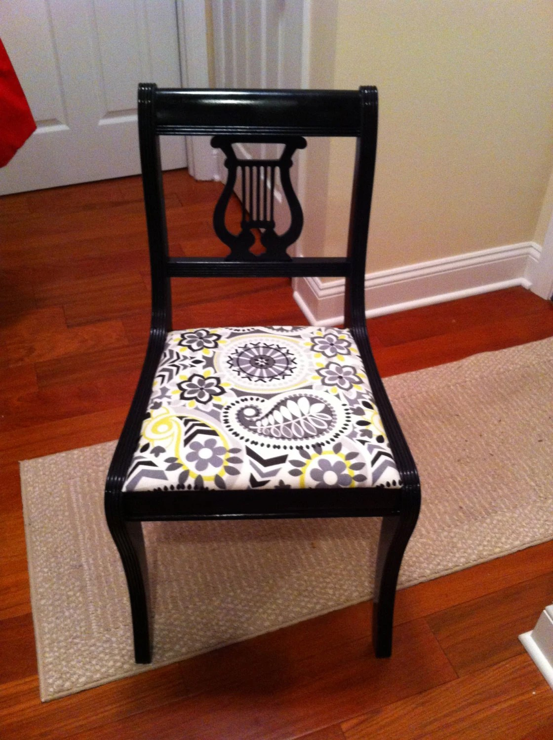 Gray And White Accent Chair