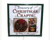 20% off Christmas SALE Treasury of Christmas Crafts Book & Other Holiday Crafts Large Hardback Hard Cover Like New - RayMels