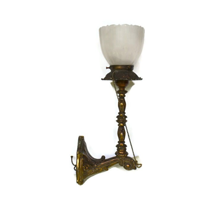 Vintage Victorian Wall Light Sconce Ornate Brass by ... on Victorian Wall Sconces id=92735
