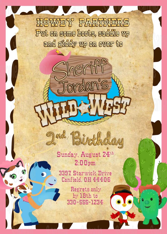 Printable Sheriff Callie S Wild West Insipred Birthday