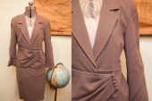 Vintage 80s does 40s Anne Klein Wool Women's Suit // Quality Work Attire