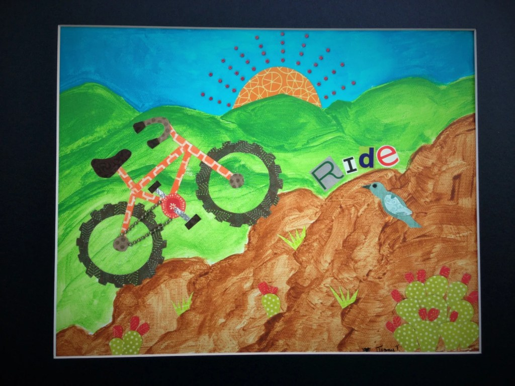 Ride 11X14 print with mat