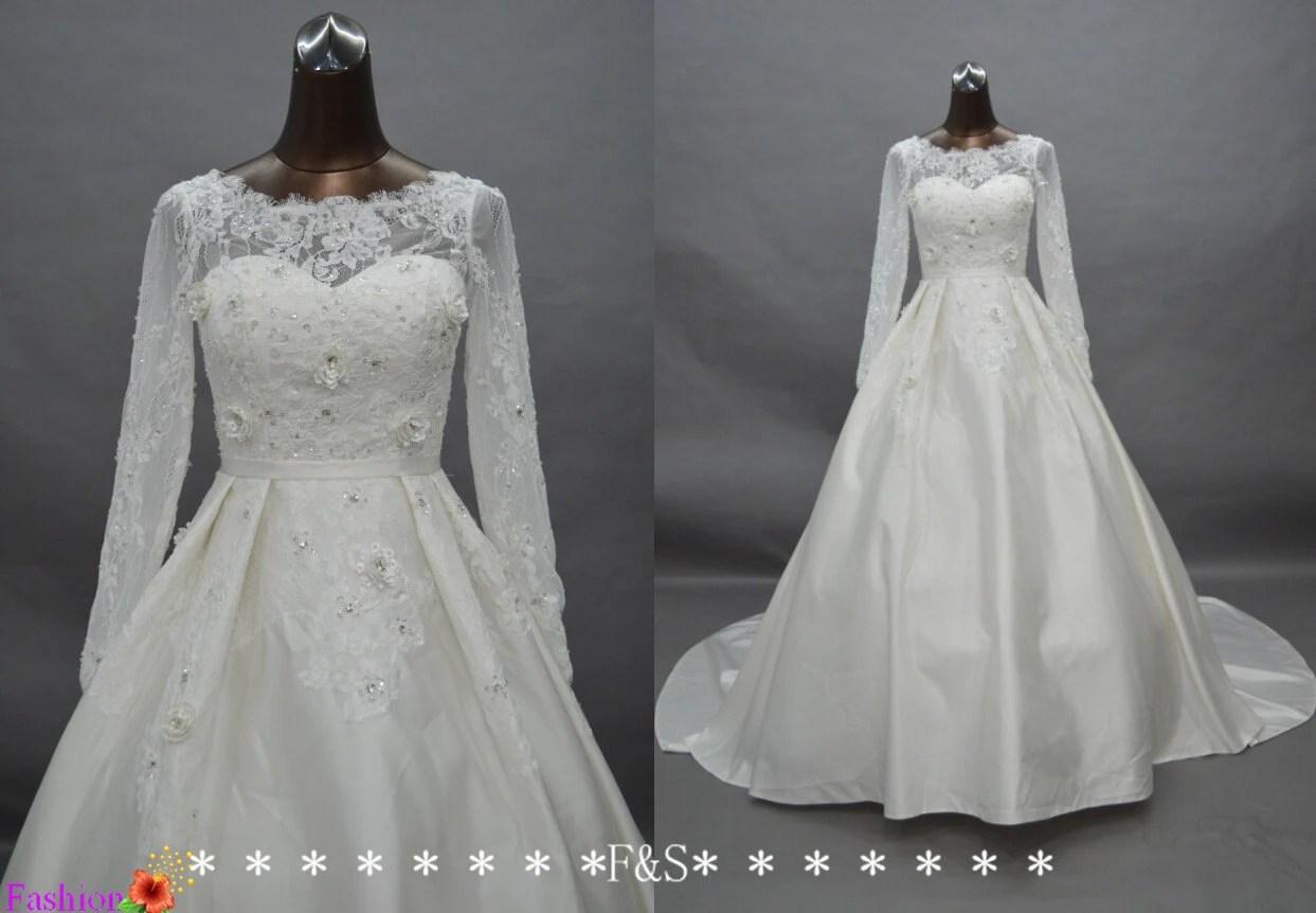 Items Similar To Long Sleeve Wedding Dresses, Elegant Long