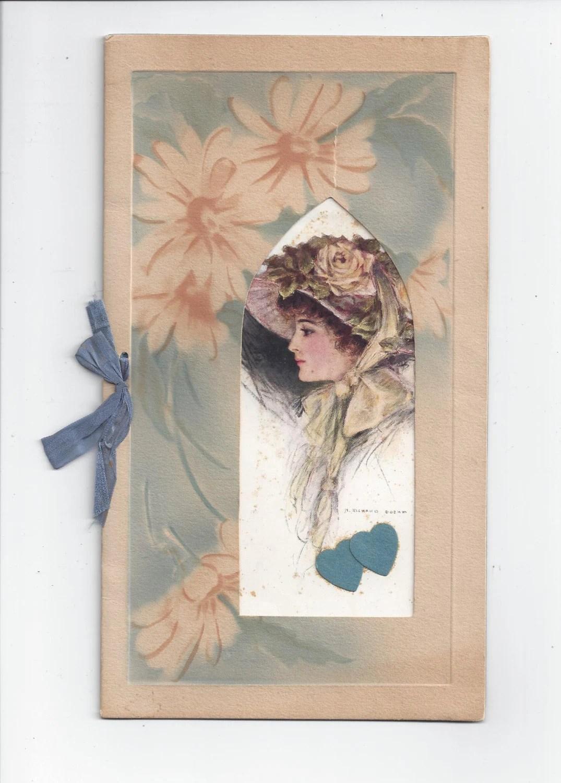 1920s Vintage Valentine Greeting Card Art By H Richard