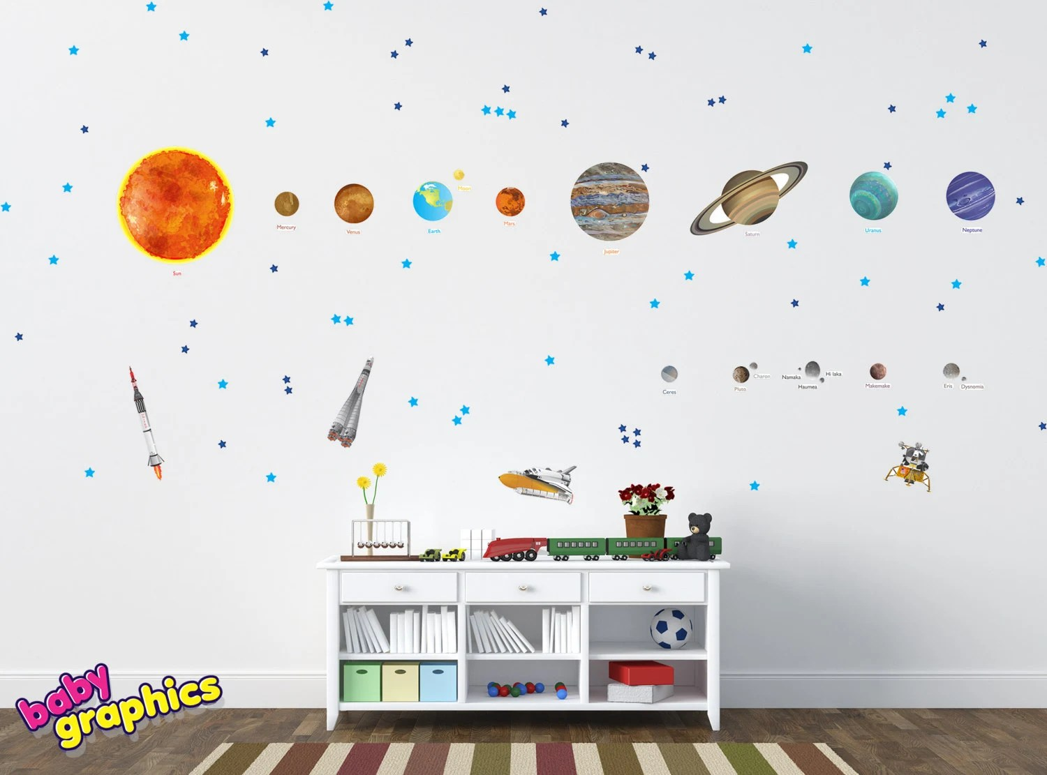 Solar System Wall Stickers Large