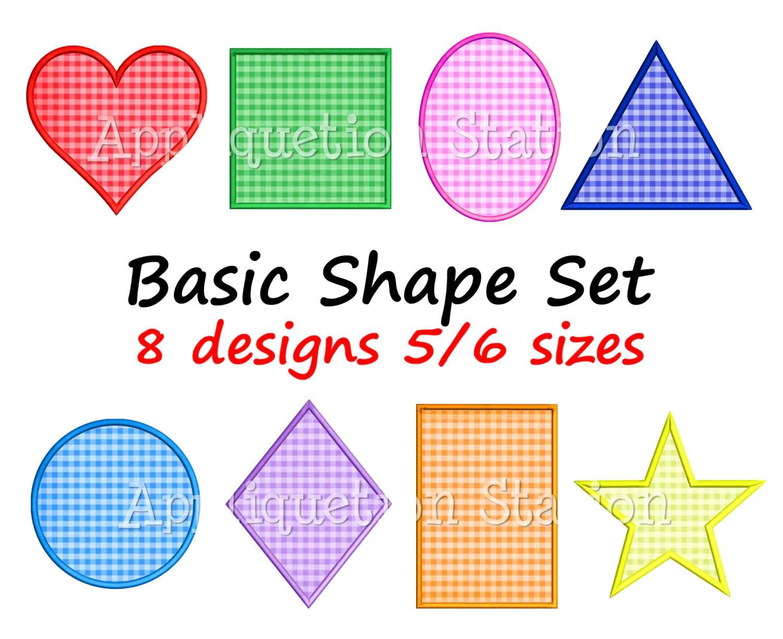 Basic Shape Set Applique Machine Embroidery Design Heart