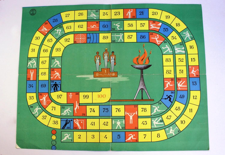 Vintage Board Game Olympic Games Vintage Sport Dice Game