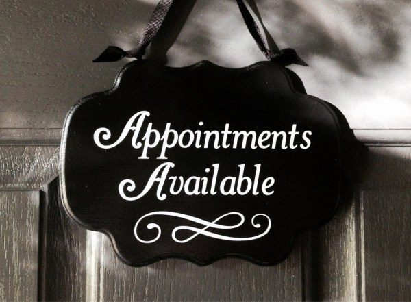 Items similar to Appointments Available Sign, Front Door ...