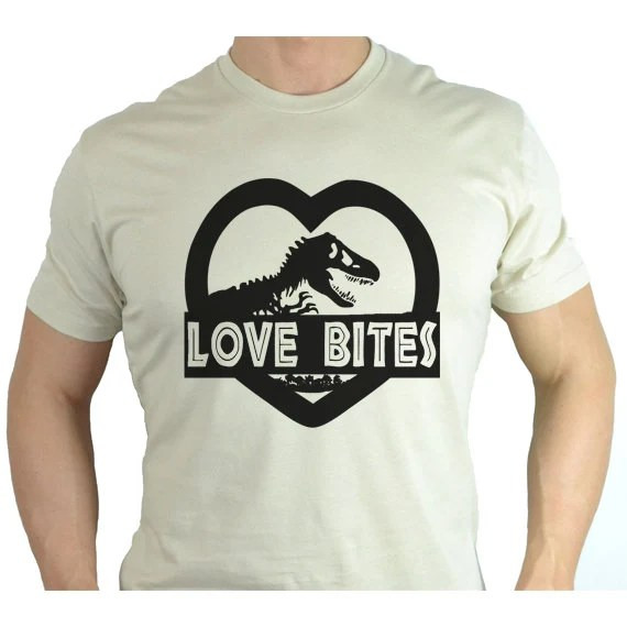 Download Mens Jurassic Park Style Shirt Love Bites Funny T by ...