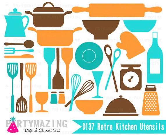 Vintage Kitchen Utensils Clip Art
