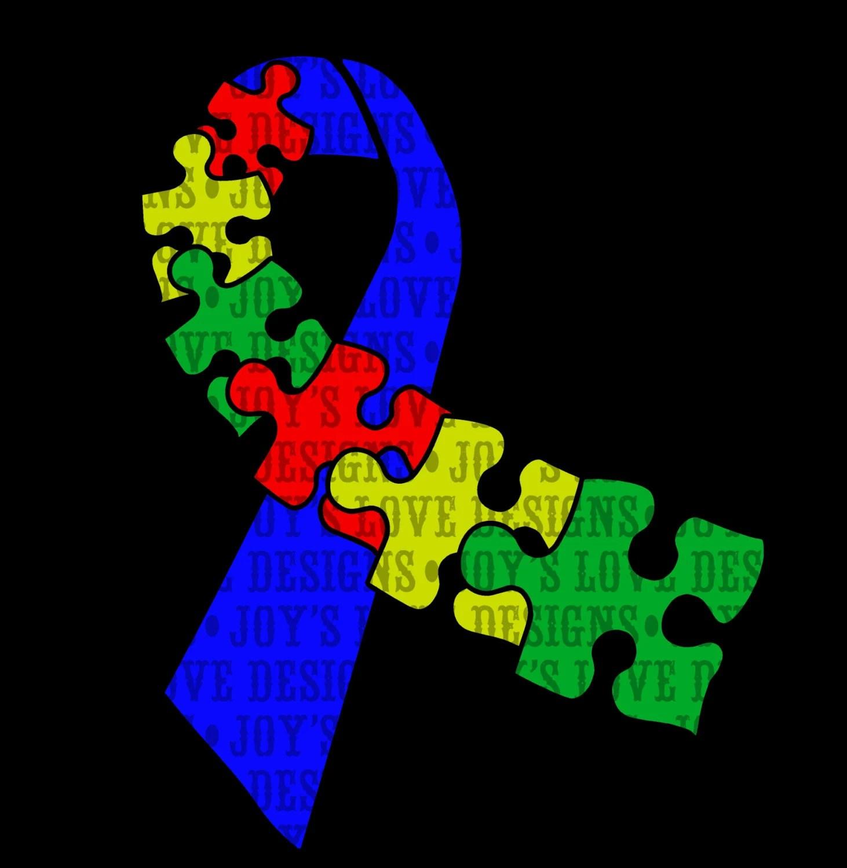 Autism Awareness Ribbon Svg And Dxf Digital Download