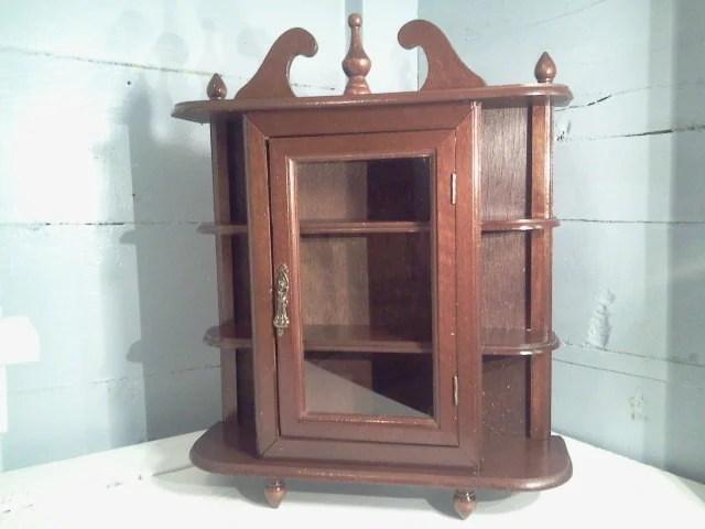Sale Vintage Curio Cabinet Wall Mount Or Table Top Curio