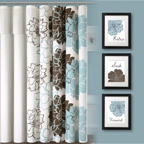 Turquoise And Brown Bathroom Accessories