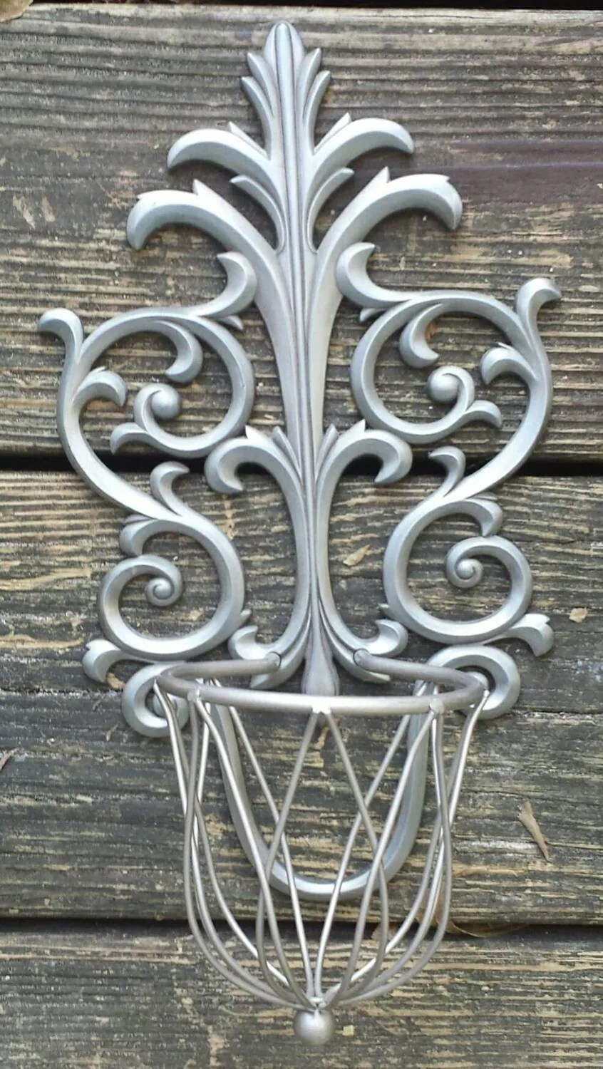 Wall Sconce Silver Candle Holder Decor on Silver Wall Sconces For Candles id=91422