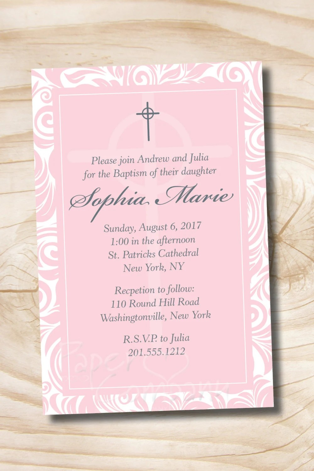 Baptism Invitations Print Your Own