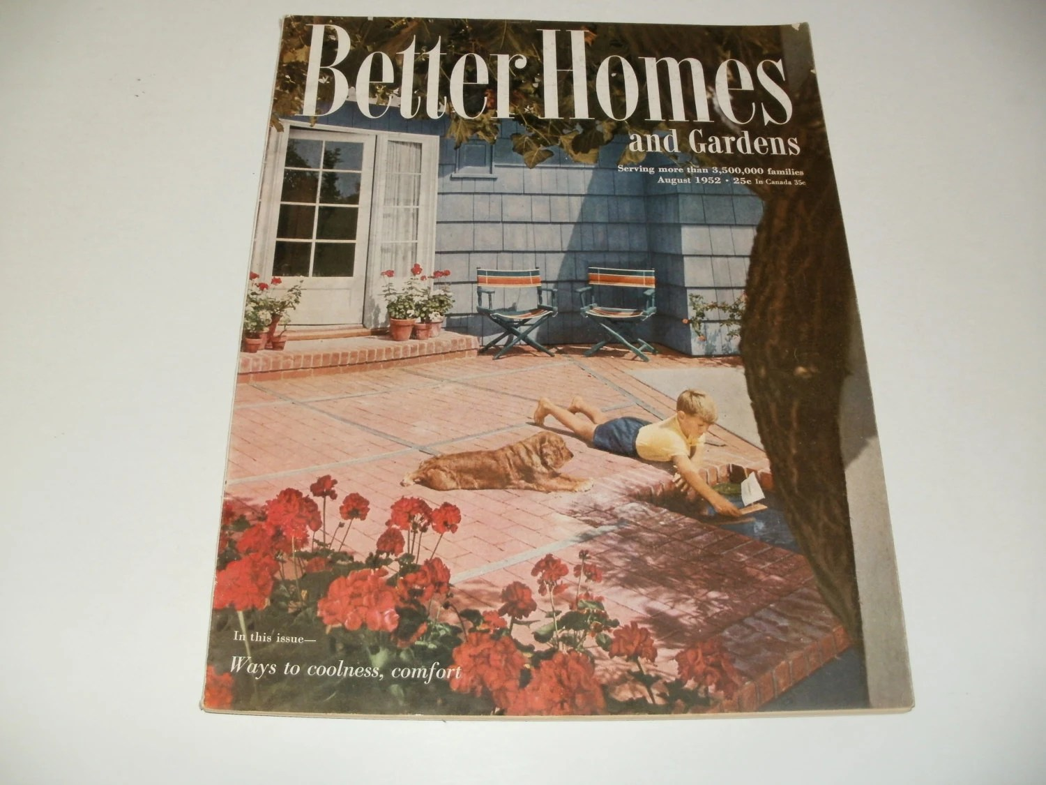 Vintage Better Homes And Gardens Magazine August By