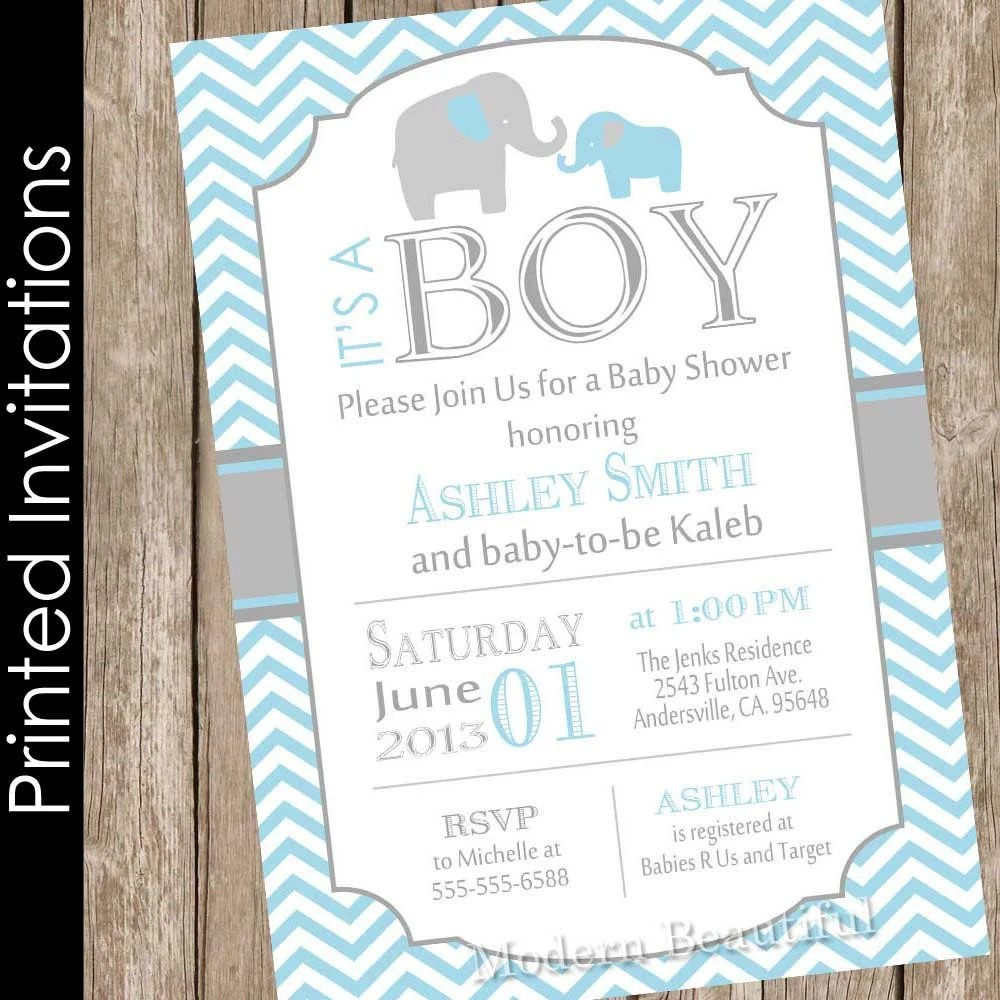 Printed Baby Shower Invitations