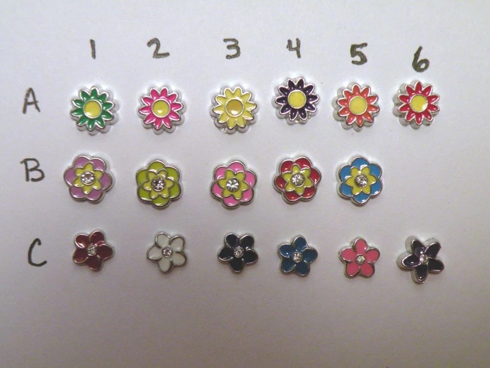 Items Similar To Flower Floating Charms For Origami Owl