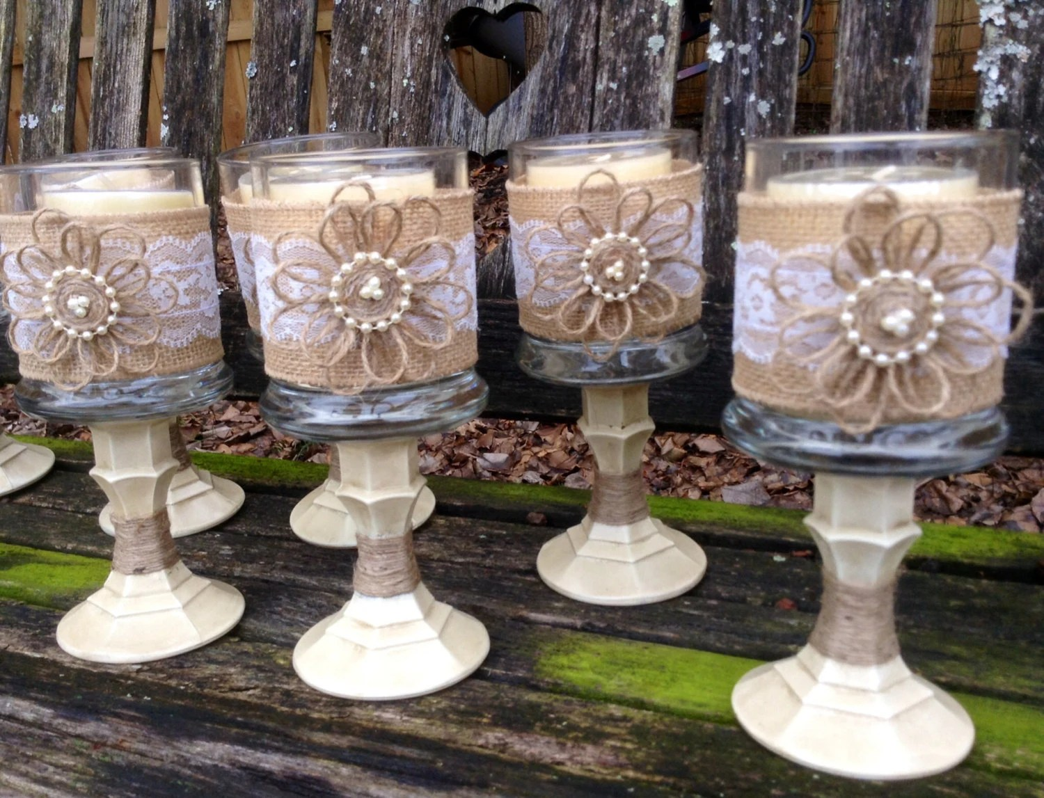 Items Similar To Shabby Chic Wedding Centerpiece / Country