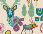Utopia by Frances Newcombe for Art Gallery Fabrics - Dreamlandia Illuminated - Yardage (1/4 Yard Minimum)