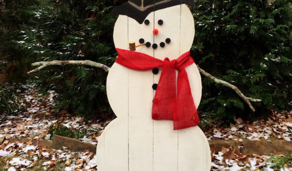 Outdoor Wooden Snowman Home Garden Improvement Design Collaboration