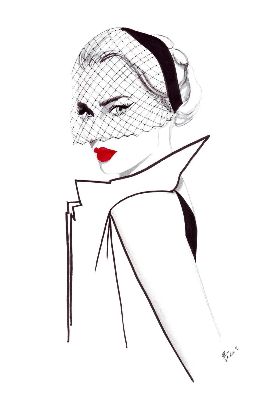 Aquarel Fashion Van 40 Van De Met Een Adellijke Titel Van