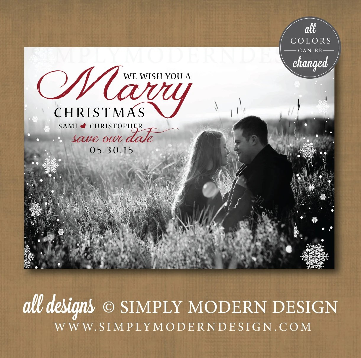 Save Date Christmas Cards